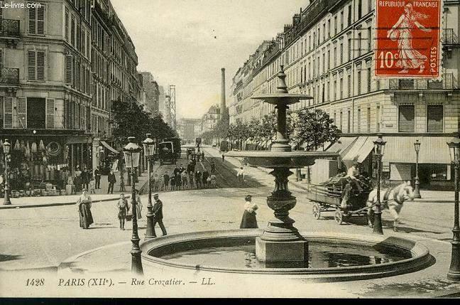 CARTE POSTALE - 1428 - PARIS - RUE CROZATIER