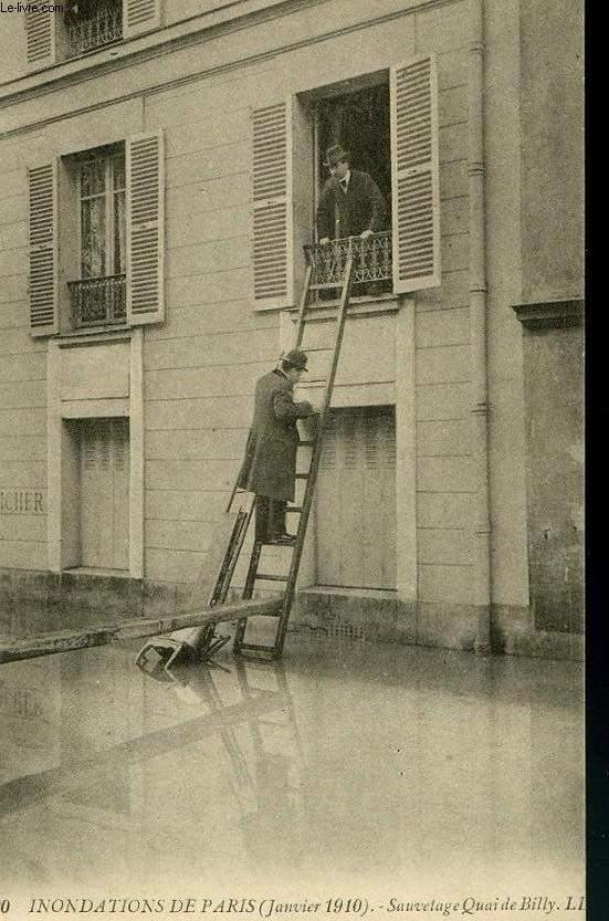 CARTE POSTALE - 20 - INONDATION DE PARIS - JANVIER 1910 -