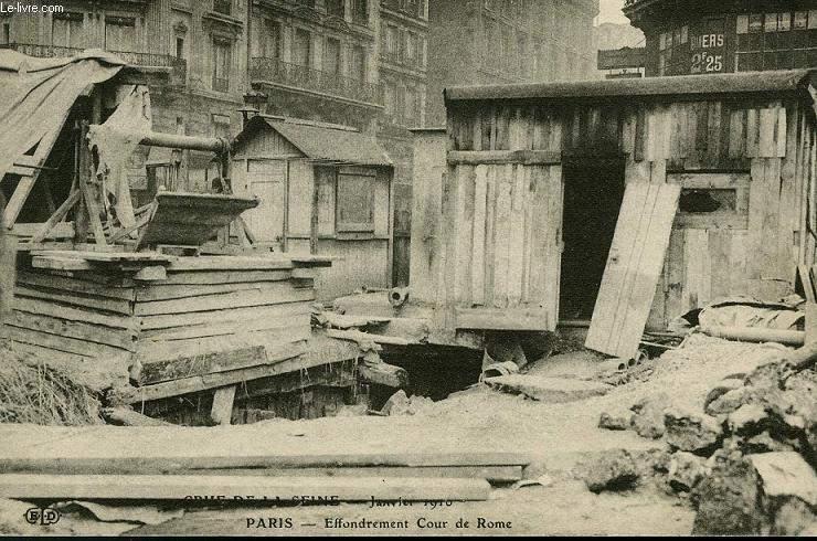 CARTE POSTALE - CRUE DE LA SEINE - JANVIER 1910