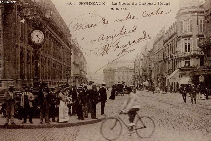 CARTE POSTALE -  181 - BORDEAUX - COURS DU CHAPEAU ROUGE