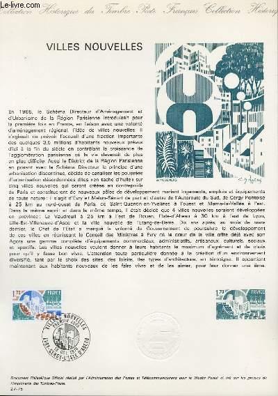 DOCUMENT PHILATELIQUE OFFICIEL N°27-75 - VILLES NOUVELLES (N°1855 YVERT ET TELLIER)