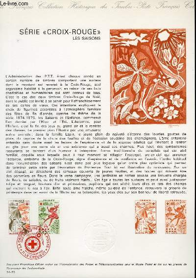 DOCUMENT PHILATELIQUE OFFICIEL N°34-75 - SERIE CRIOX-ROUGE