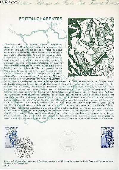 DOCUMENT PHILATELIQUE OFFICIEL N°35-75 - POITOU-CHARENTES (N°1851 YVERT ET TELLIER)