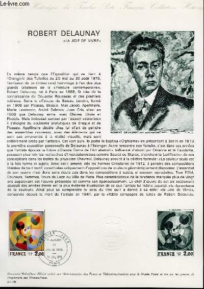 DOCUMENT PHILATELIQUE OFFICIEL N°27-76 - ROMBERT DELAUNAY
