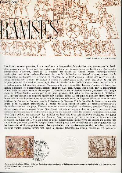 DOCUMENT PHILATELIQUE OFFICIEL N°31-76 - RAMSES (N°1899 YVERT ET TELLIER)