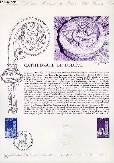DOCUMENT PHILATELIQUE OFFICIEL N°42-76 - CATHEDRALE DE LEDEVE (N°1902 YVERT ET TELLIER)