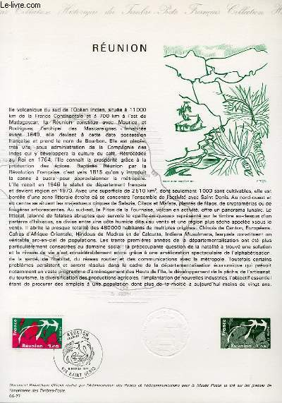 DOCUMENT PHILATELIQUE OFFICIEL N�06-77 - REUNION (N�1914 YVERT ET TELLIER)