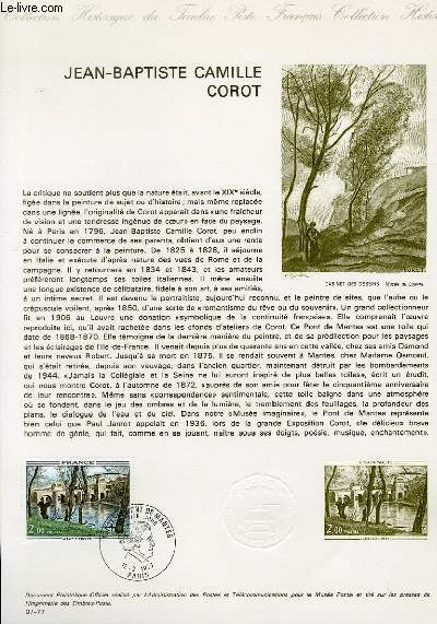 DOCUMENT PHILATELIQUE OFFICIEL N°07-77 - JEAN-BAPTISTE CAMILLE CAROT (N°1923 YVERT ET TELLIER)