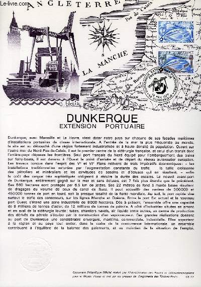 DOCUMENT PHILATELIQUE OFFICIEL N°08-77 - DUNKERQUE EXTENSION PORTUAIRE (N°1925 YVERT ET TELLIER)
