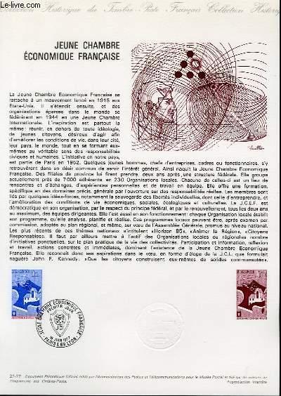 DOCUMENT PHILATELIQUE OFFICIEL N°27-77 - JEUNES CHAMBRE ECONOMIQUE FRANCAISE (N°1942 YVERT ET TELLIER)
