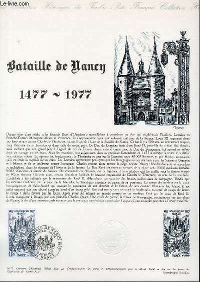 DOCUMENT PHILATELIQUE OFFICIEL N°28-77 - BATAILLE DE NANCY 1477-1977 (N°1943 YVERT ET TELLIER)