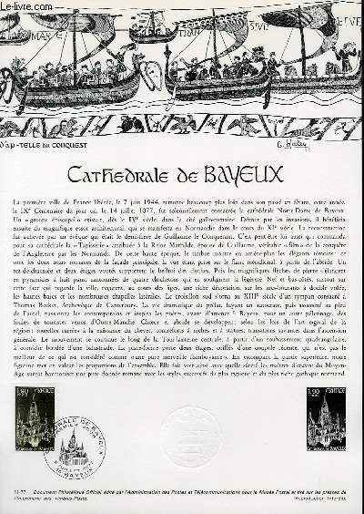 DOCUMENT PHILATELIQUE OFFICIEL N°31-77 - CATHEDRALE DE BAYEUX (N°1939 YVERT ET TELLIER)