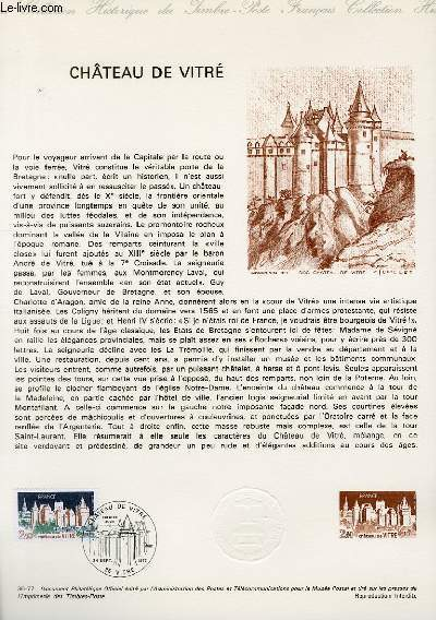 DOCUMENT PHILATELIQUE OFFICIEL N°36-77 - CHATEAU DE VITRE (N°1949 YVERT ET TELLIER)