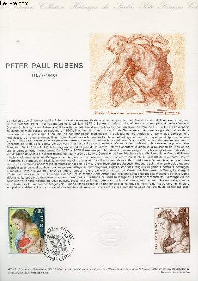 DOCUMENT PHILATELIQUE OFFICIEL N°42-77 - PETER PAUL RUBENS 1577-1640 (N°1958 YVERT ET TELLIER)