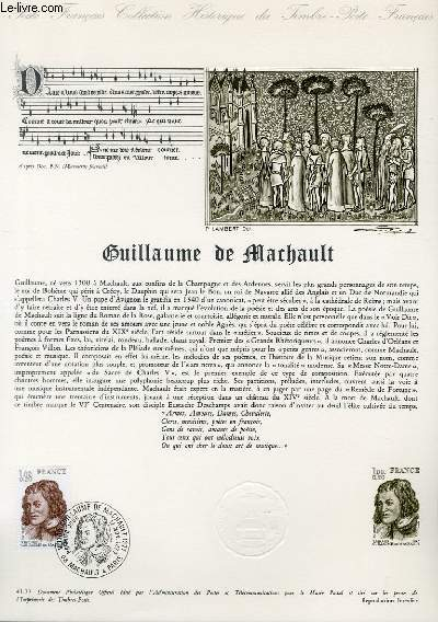 DOCUMENT PHILATELIQUE OFFICIEL N°43-77 - GUILLAULE DE MARCHAULT (N°195 YVERT ET TELLIER)