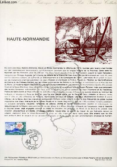 DOCUMENT PHILATELIQUE OFFICIEL N�05-78 - HAUTE-NORMANDIE (N�1992 YVERT ET TELLIER)
