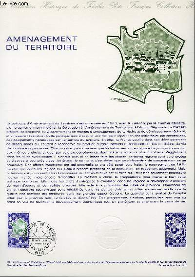 DOCUMENT PHILATELIQUE OFFICIEL N�08-78 - AMENAGEMENT DU TERRITOIRE (N�1995 YVERT ET TELLIER)