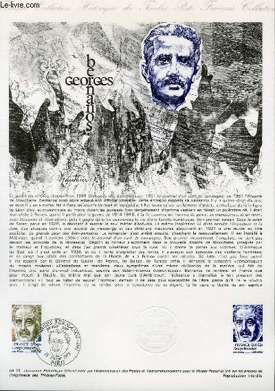DOCUMENT PHILATELIQUE OFFICIEL N°09-78 - GEORGES BERNANOS (N°1987 YVERT ET TELLIER)