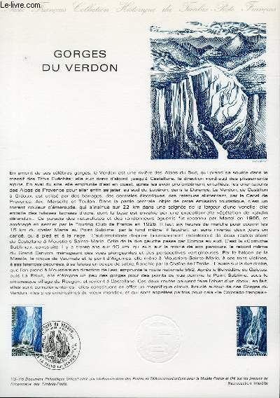 DOCUMENT PHILATELIQUE OFFICIEL N°13-78 - GEORGES DU VERDON (N°1996 YVERT ET TELLIER)
