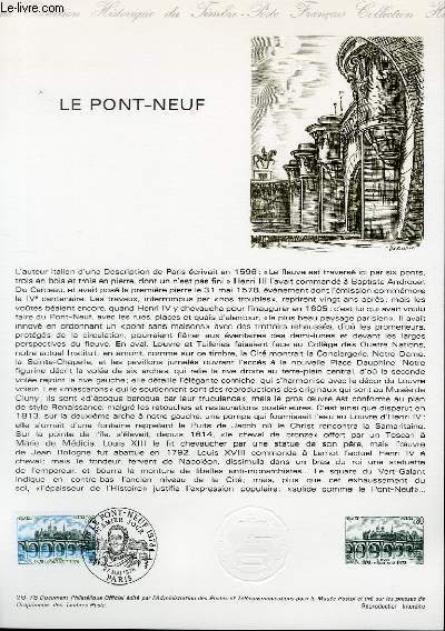 DOCUMENT PHILATELIQUE OFFICIEL N°26-78 - LE PONT NEUF (N°1997 YVERT ET TELLIER)