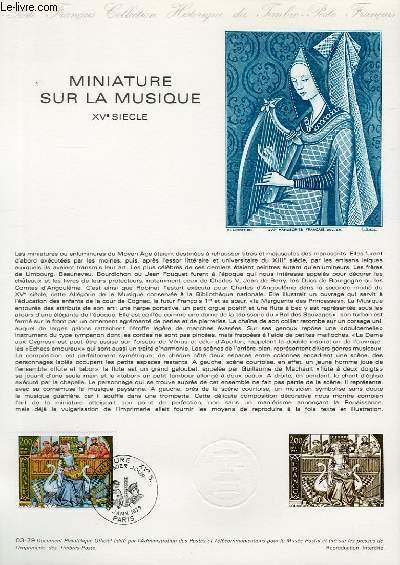 DOCUMENT PHILATELIQUE OFFICIEL N°03-79 - MINIATURE SUR LA MUSIQUE 15° SIECLE (N°2023 YVERT ET TELLIER)