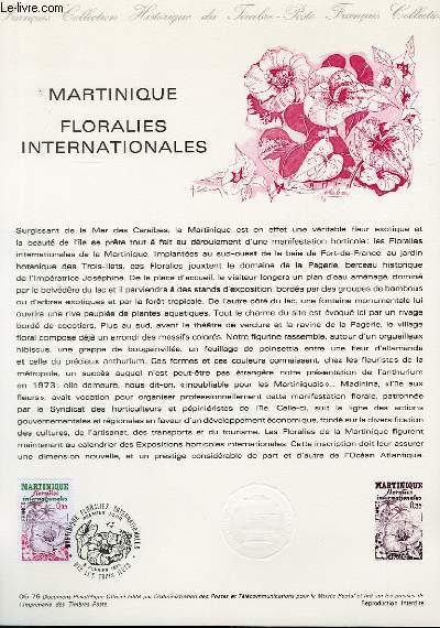 DOCUMENT PHILATELIQUE OFFICIEL N°05-79 - MARTINIQUE FLORALIES INTERNATIONALES (N°2035 YVERT ET TELLIER)