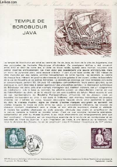 DOCUMENT PHILATELIQUE OFFICIEL N°06-79 - TEMPLE DE BOROBUDUR JAVA (N°2036 YVERT ET TELLIER)