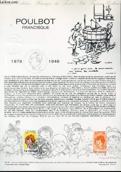 DOCUMENT PHILATELIQUE OFFICIEL N�08-79 - POULBOT FRANCISQUE (N�2038 YVERT ET TELLIER)