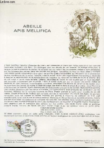 DOCUMENT PHILATELIQUE OFFICIEL N�09-79 - ABEILLE APIS MELLIFICA (N�2039 YVERT ET TELLIER)