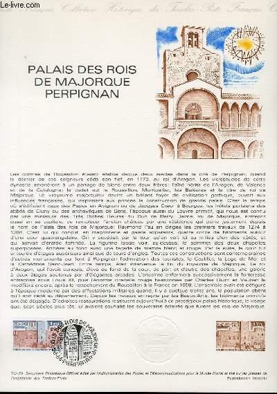 DOCUMENT PHILATELIQUE OFFICIEL N°10-79 - PALAIS DES ROIS DE MAJORQUE PERPIGNAN (N°2044 YVERT ET TELLIER)