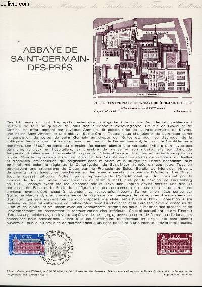 DOCUMENT PHILATELIQUE OFFICIEL N°11-79 - ABBAYE DE SAINT GERMAIN DES PRES (N°2045 YVERT ET TELLIER)