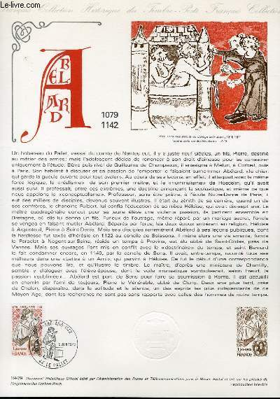 DOCUMENT PHILATELIQUE OFFICIEL N°19-79 - PIERRE ABELARD (N°2031 YVERT ET TELLIER)