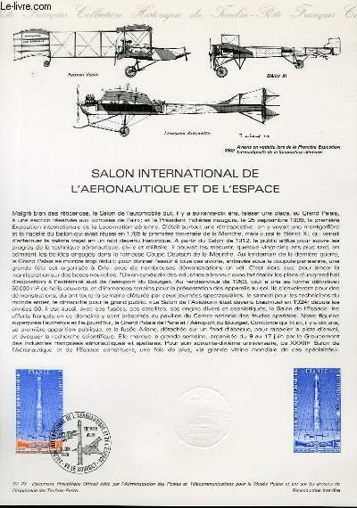 DOCUMENT PHILATELIQUE OFFICIEL N°20-79 - SALON INTERNATIONAL DE L'AERONAUTIQUE ET DE L'ESPACE (N°52 YVERT ET TELLIER)