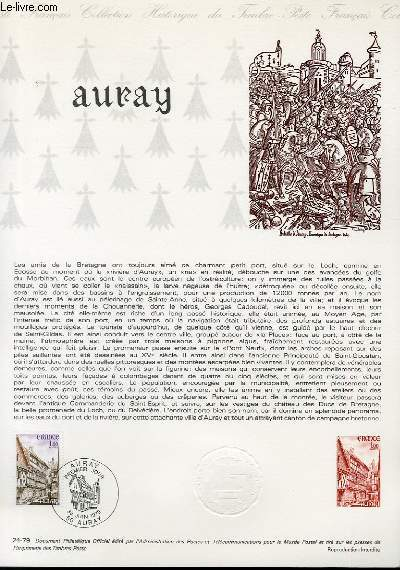 DOCUMENT PHILATELIQUE OFFICIEL N°24-79 - AURAY (N°2041 YVERT ET TELLIER)