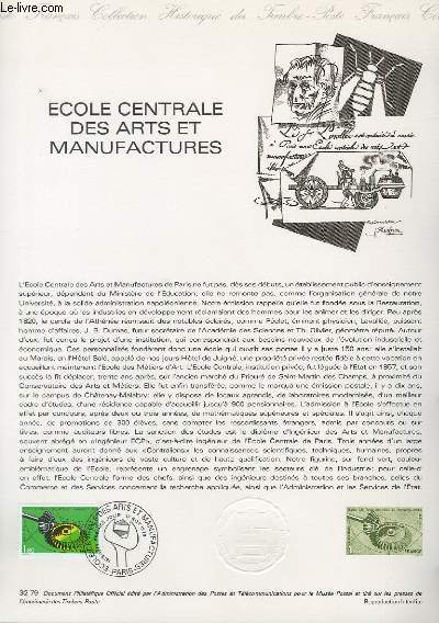 DOCUMENT PHILATELIQUE OFFICIEL N°32-79 - ECOLE CENTRALE DES ARTS ET MANUFACTURES (N°2066 YVERT ET TELLIER)
