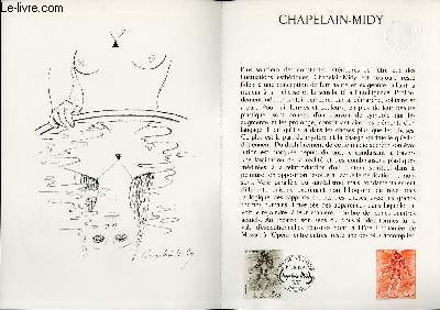 DOCUMENT PHILATELIQUE OFFICIEL N°37-79 - CHAPELAIN-MIDY (N°2068 YVERT ET TELLIER)