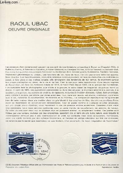DOCUMENT PHILATELIQUE OFFICIEL N°03-80 - RAOUL UBAC OEUVRE ORIGINALE (N°2075 YVERT ET TELLIER)