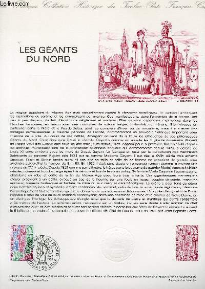 DOCUMENT PHILATELIQUE OFFICIEL N°04-80 - LES GEANTS DU NORD (N°2076 YVERT ET TELLIER)