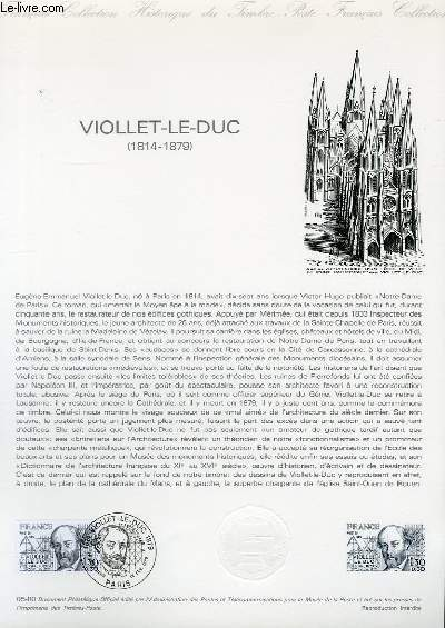 DOCUMENT PHILATELIQUE OFFICIEL N°05-80 - VIOLLET LE DUC 1814-1879 (N°20995 YVERT ET TELLIER)