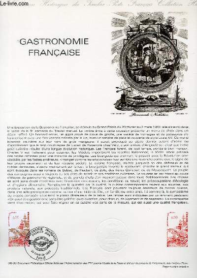 DOCUMENT PHILATELIQUE OFFICIEL N°06-80 - GASTRONOMIE FRANCAISE (N°2077 YVERT ET TELLIER)