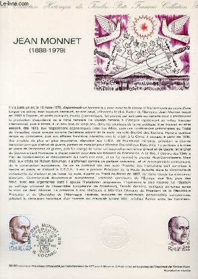 DOCUMENT PHILATELIQUE OFFICIEL N°08-80 - JEAN MONNET 1888-1979 (N°2096 YVERT ET TELLIER)