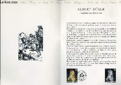 DOCUMENT PHILATELIQUE OFFICIEL N°18-80 - ALBERT DURER - AUTOPORTRAIT AVEC FLEUR DE RICIN (N°2090 YVERT ET TELLIER)