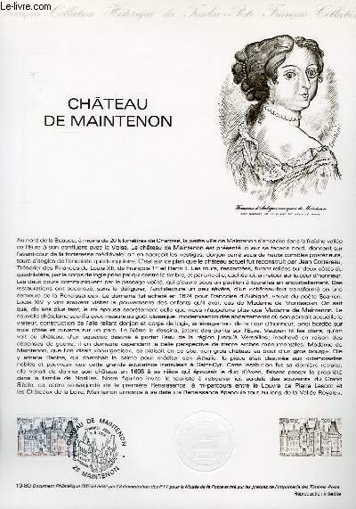 DOCUMENT PHILATELIQUE OFFICIEL N°19-80 - CHATEAU DE MAINTENON (N°2082 YVERT ET TELLIER)