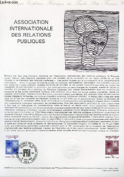DOCUMENT PHILATELIQUE OFFICIEL N°20-80 - ASSOCIATION INTERNATIONALE DES RELATIONS PUBLIQUES (N°2091 YVERT ET TELLIER)