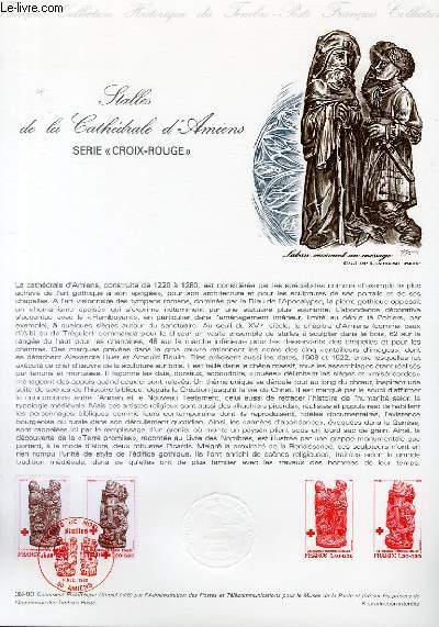 DOCUMENT PHILATELIQUE OFFICIEL N°39-80 - STALLES DE LA CATHEDRALE D'AMIENS - SERIE
