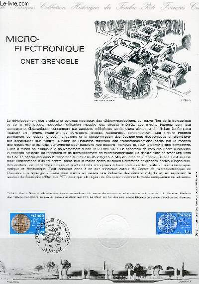 DOCUMENT PHILATELIQUE OFFICIEL N°02-81 - MICRO-ELECTRONIQUE CNET GRENOBLE (N°2126 YVERT ET TELLIER)