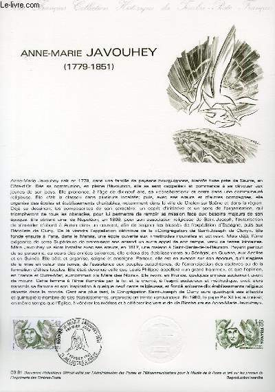 DOCUMENT PHILATELIQUE OFFICIEL N°03-81 - ANNE-MARIE JAVOUHEY 1779-1851 (N°2150 YVERT ET TELLIER)