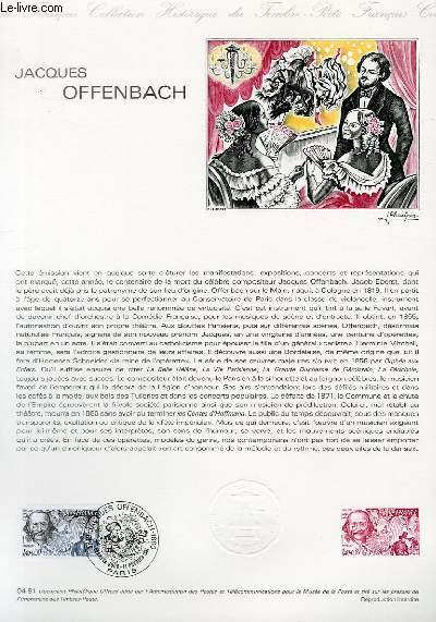 DOCUMENT PHILATELIQUE OFFICIEL N°04-81 - JACQUES OFFENBACH (N°2151 YVERT ET TELLIER)