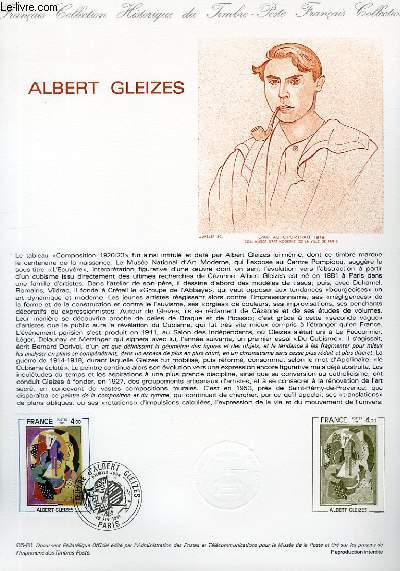 DOCUMENT PHILATELIQUE OFFICIEL N�05-81 - ALBERT GLEIZES (N�2137 YVERT ET TELLIER)