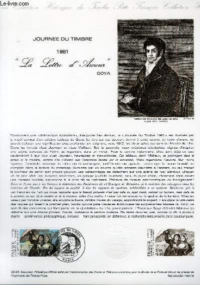 DOCUMENT PHILATELIQUE OFFICIEL N�06-81 - JOURNEE DU TIMBRE 1981